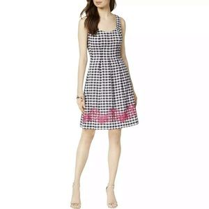 Nine West Women's Gingham Dress NWT 6